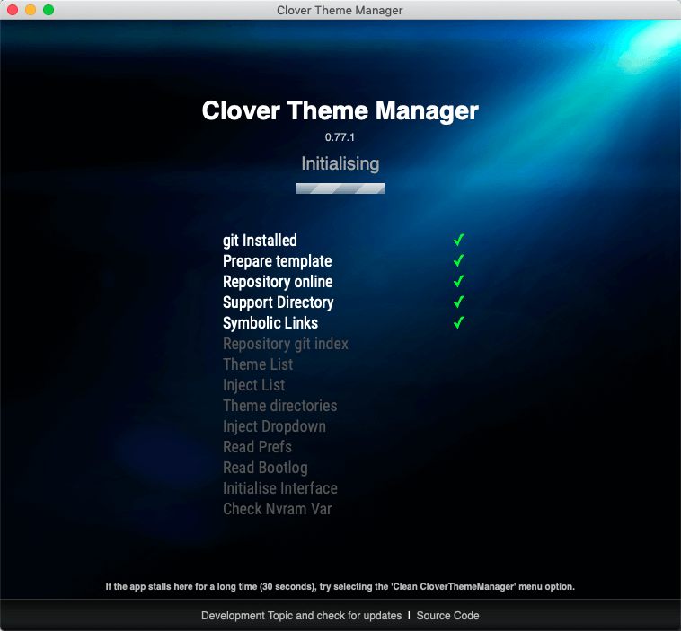 加载CloverThemeManager